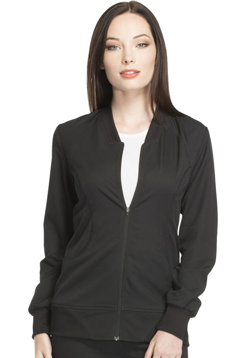 Dynamix Women's Zip Front Warm-up Jacket Black