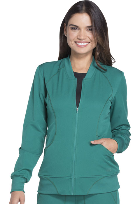 Dickies Dynamix Women's Zip Front Warm-up Jacket Green