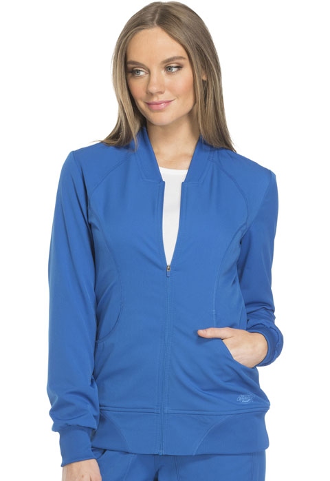 Dickies Dynamix Women's Zip Front Warm-up Jacket Blue