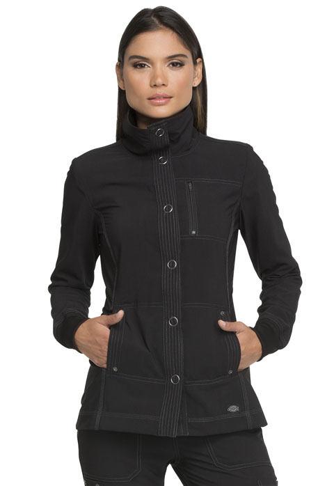 Dickies Advance Snap Front Jacket in Black