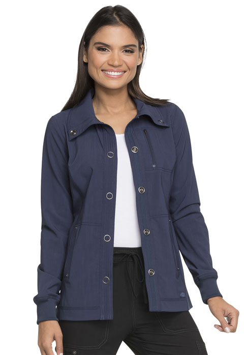 Dickies Advance Snap Front Jacket in D-Navy