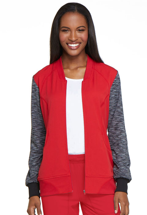Dickies Dickies Dynamix Zip Front Warm-up Jacket in Red