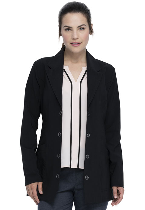 Advance Women's 28 Notched Lapel Lab Coat Black