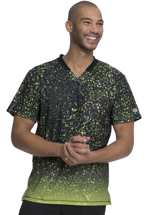 Dickies Dickies Prints Men's Rib Knit V-Neck Top in Glow For It