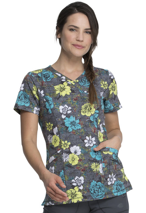 Dickies Dickies Prints Mock Wrap Top in Blooms So Bright