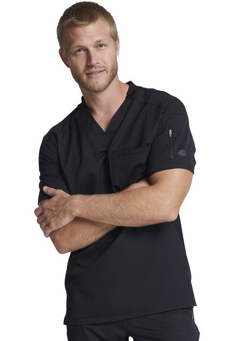 Dickies Dickies Dynamix Men's Tuckable V-Neck Top in Black