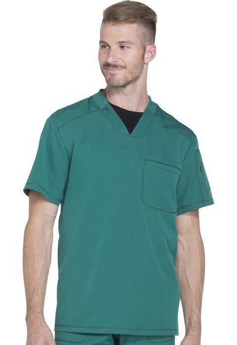 Dickies Dynamix Men's V-Neck Top in Hunter Green
