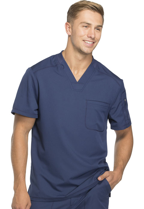 Dickies Dynamix Men's V-Neck Top in Navy