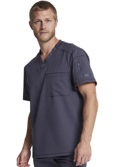 Dickies Dickies Dynamix Men's V-Neck Top in Pewter