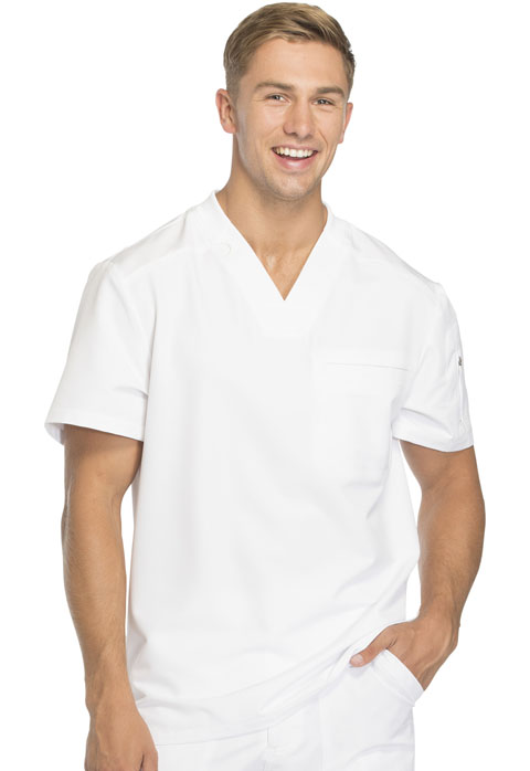 Dickies Dynamix Men's Men's V-Neck Top White