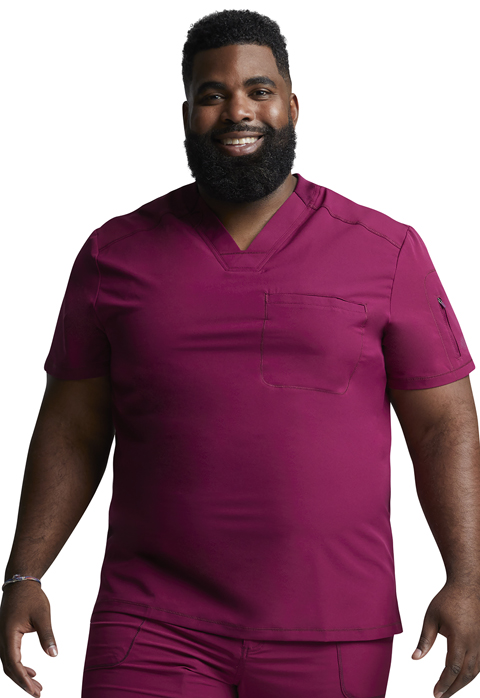 Dickies Dickies Dynamix Men's Tuckable V-Neck Top in Wine