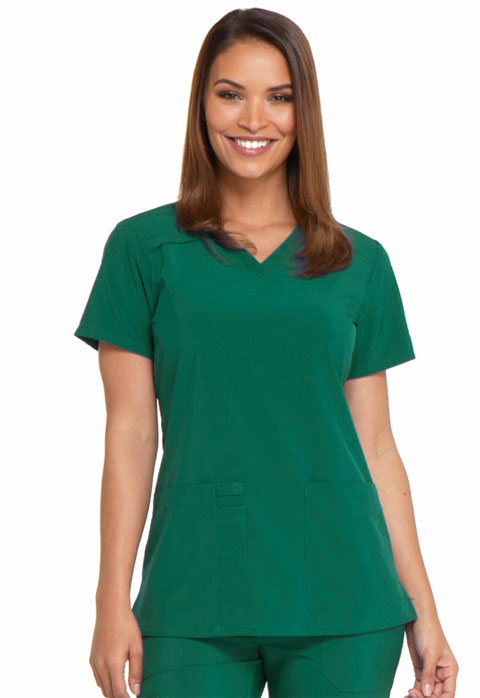 Dickies EDS Essentials V-Neck Top in Hunter Green