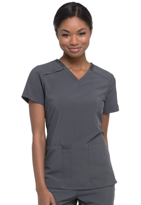 Dickies Every Day EDS Essentials V-Neck Top in Pewter