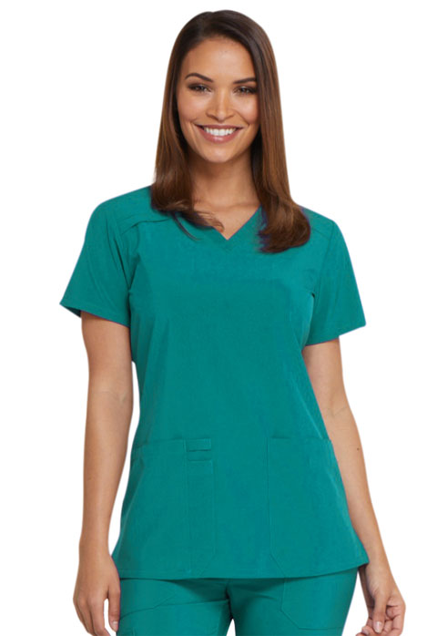 Dickies Every Day EDS Essentials V-Neck Top in Teal Blue