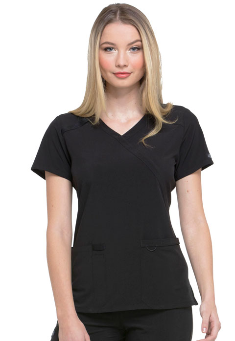 Dickies EDS Essentials Mock Wrap Top in Black