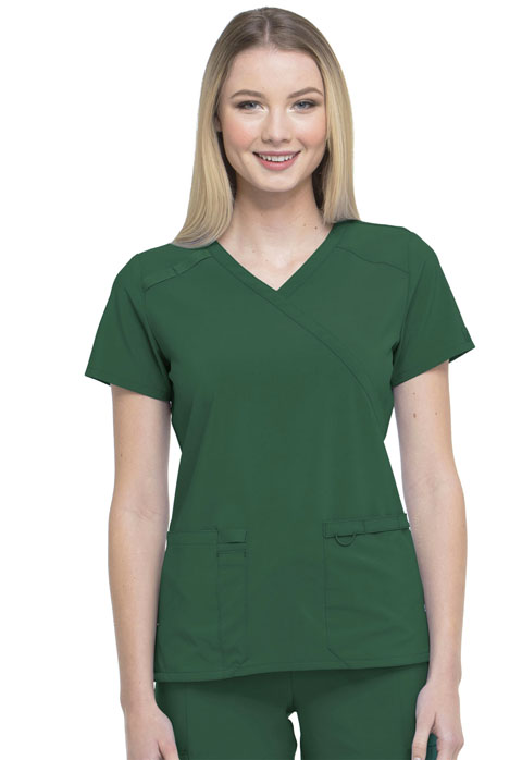 Dickies EDS Essentials Mock Wrap Top in Hunter Green