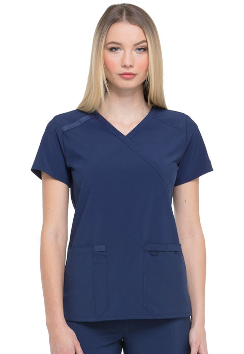 Dickies Every Day EDS Essentials Mock Wrap Top in Navy