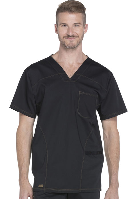 Dickies Essence Men's V-Neck Top in Black
