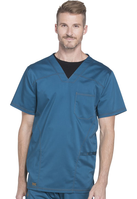 Dickies Essence Men's V-Neck Top in Caribbean Blue