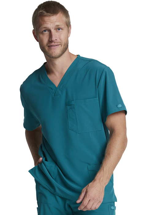 Dickies EDS Essentials Men's V-Neck Top in Caribbean Blue