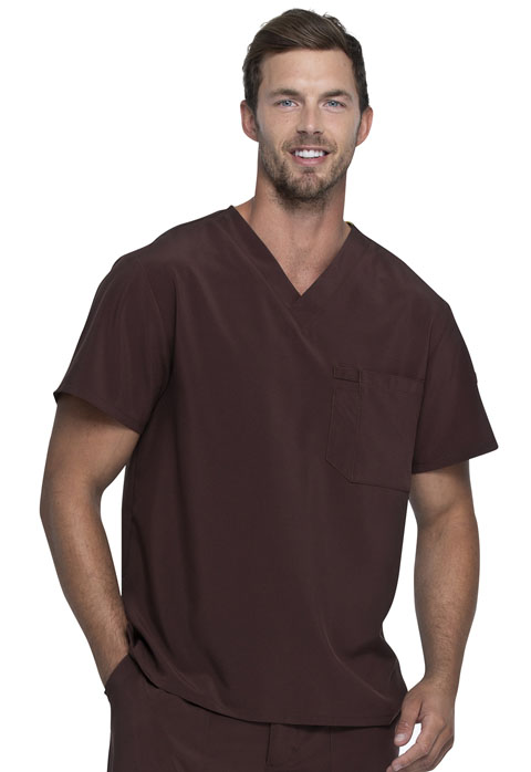 Dickies Every Day EDS Essentials Men's V-Neck Top in Espresso