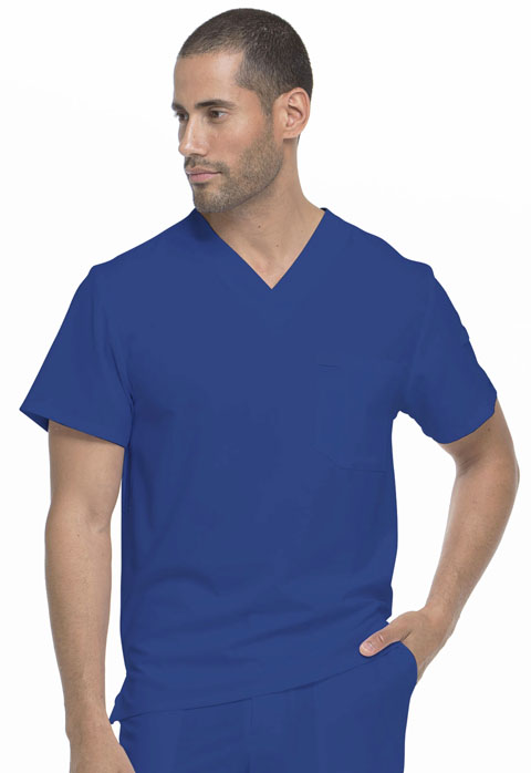 Dickies Every Day EDS Essentials Men's Tuckable V-Neck Top in Galaxy Blue