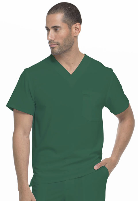 Dickies EDS Essentials Men's V-Neck Top in Hunter Green