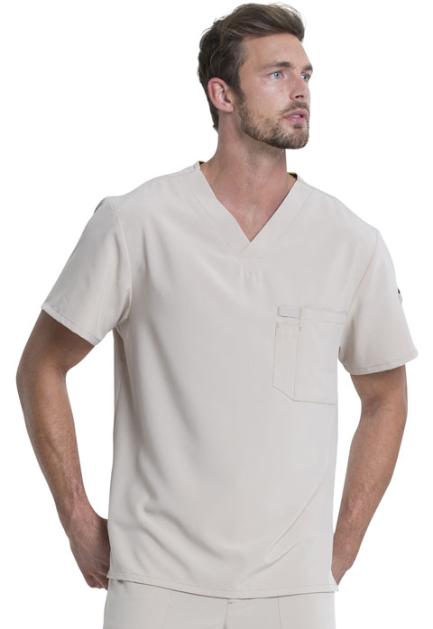 Dickies Every Day EDS Essentials Men's Tuckable V-Neck Top in Khaki