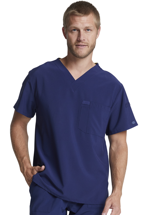 Dickies Every Day EDS Essentials Men's V-Neck Top in Navy