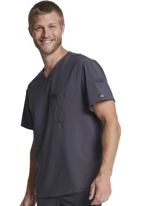 Dickies Every Day EDS Essentials Men's V-Neck Top in Pewter