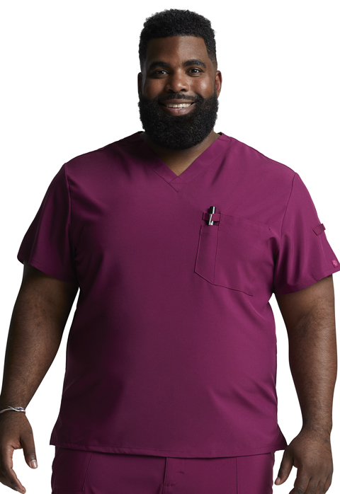Dickies Every Day EDS Essentials Men's Tuckable V-Neck Top in Wine