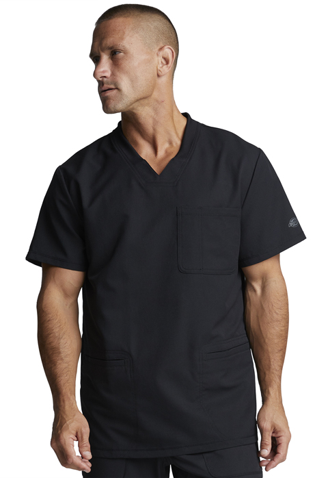 Dickies Dynamix Men's V-Neck Top in Black