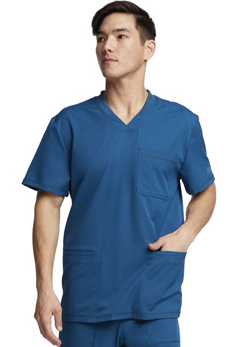 Dickies Dynamix Men's V-Neck Top in Caribbean Blue