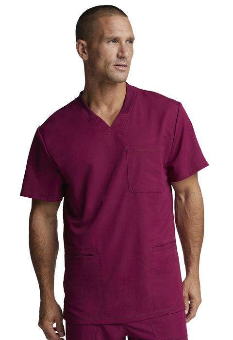 Dickies Dynamix Men's V-Neck Top in Wine