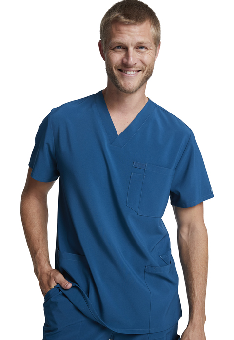 Dickies Every Day EDS Essentials Men's V-Neck Top in Caribbean Blue
