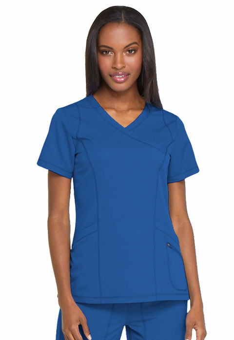 Dickies Dynamix Women's Mock Wrap Top Blue