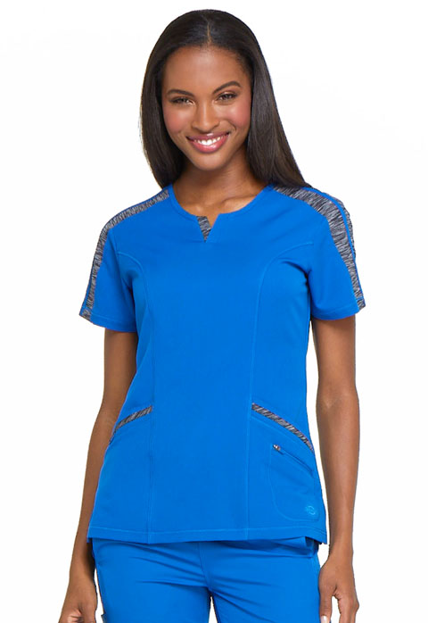 Dickies Dickies Dynamix Shaped V-Neck Top in Royal