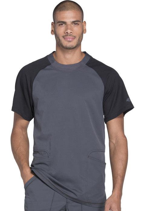 Dickies Dynamix Men's Crew Neck Top in Pewter