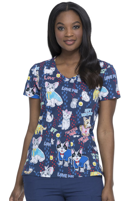 Dickies Dickies Prints V-Neck Top in Adopt Don't Shop