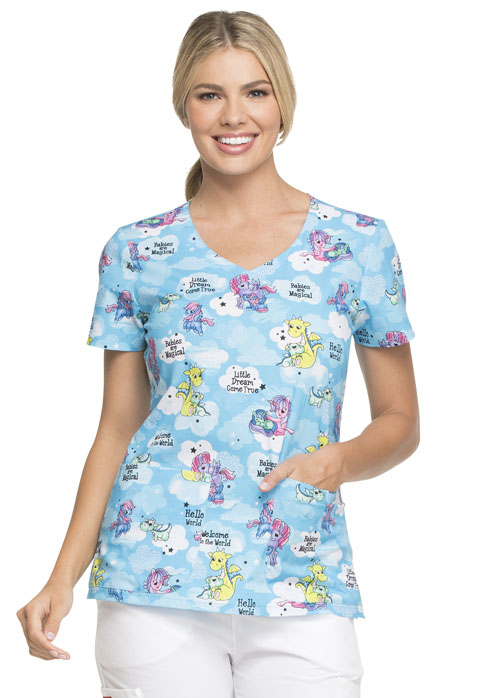Dickies Dickies Prints V-Neck Top in Babies Are Magical