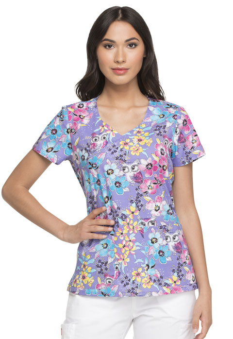 Dickies Dickies Prints V-Neck Top in Owl See You Soon