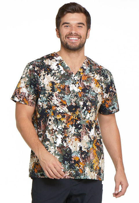 Dickies Dickies Prints Men's V-Neck Top in Great Outdoors