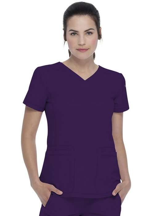 Dickies Dickies Dynamix V-Neck Top in Eggplant