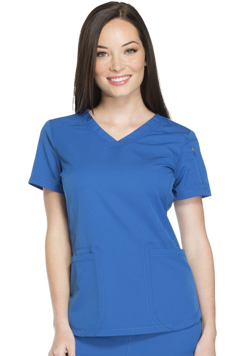 Dickies Dickies Dynamix V-Neck Top in Royal