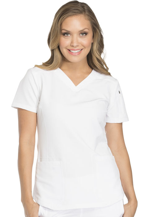 931277b47ea Dynamix V-Neck Top in White DK730-WHT from Cherokee Scrubs at ...