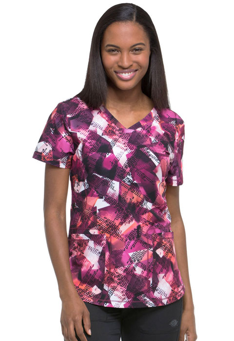 Dickies Dynamix Women's V-Neck Top Going Digital