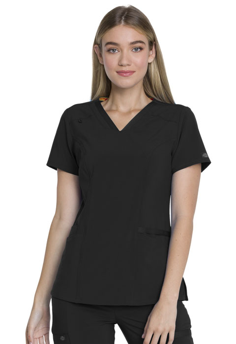 Dickies EDS Essentials V-Neck Top in Black