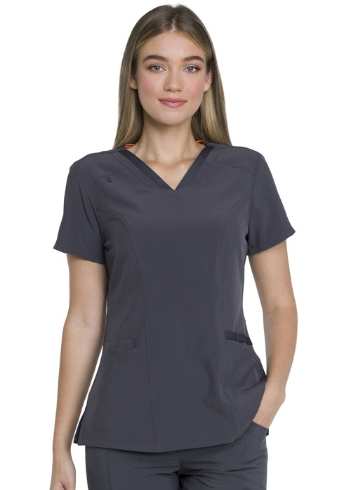 Dickies EDS Essentials V-Neck Top in Pewter