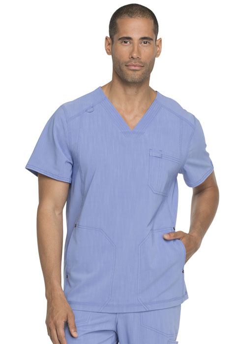 Dickies Advance Men's V-Neck Top in Ciel Blue