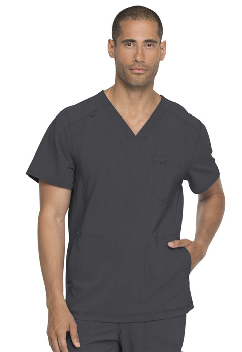 Dickies Advance Men's V-Neck Top in Pewter